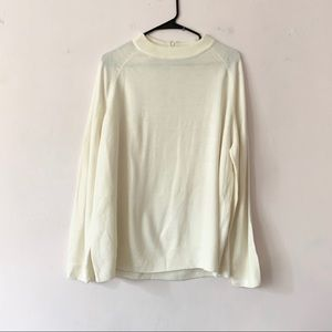 Carolyn Taylor White Mock Neck Zip Up Sweater 2X